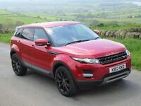 RANGE ROVER EVOQUE 4WD PURE/DYNAMIC 5 DOOR 2.2 SD4 AUTOMATIC RED, 20INCH ALLOYS,DAB, SAT NAV,LAND