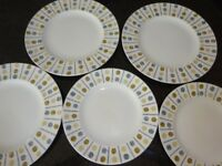 RETRO 1960 MIDWINTER OAKLEY DESIGN PLATES COLLECTABLE 5 PLATES