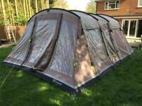 Outwell Montana 6 tent with awning footprint ground sheet carpet and windbreak to match.