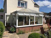Double glazed conservatory with poly carb roof