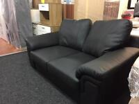 2 seater ex display faux leather sofa