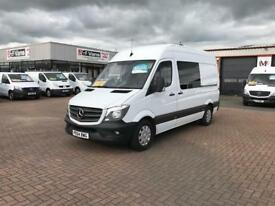2015 mercedes sprinter 313cdi mwb high roof ideal for camper or motorsports £14995 or £75 p/w j&ft&v
