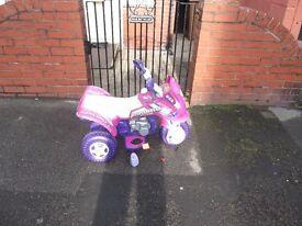Child's Bike, Battery Powered, Three Wheels.