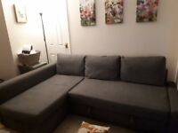 Large corner couch £200 ono inc storage& king sofa bed-great condition
