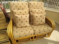 Lovely 4 piece conservatory suite/furniture. 2 seater sofa, 2 chairs and coffee table