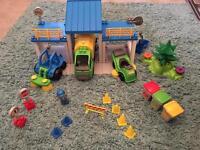Children's garbage truck playset
