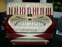 SONOLA 120 BASS ACCORDION COMPACT LIGHT WEIGHT MODEL