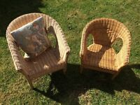 Two children's conservatory/playhouse chairs . Good condition £15 for both (will sell separately )