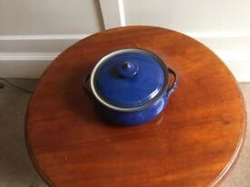 Denby Imperial Blue covered dish
