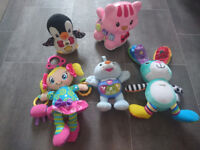 Baby toys/Vtech Catch-me-kitty Pink Exclusive, Lamaze Sonny the Glowing Bunny etc