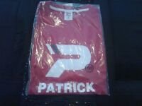 two brand new with tags patrick logo tee shirts size xxxl one red one blue
