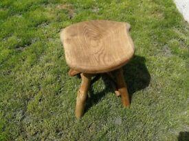 Solid, heavy, Handmade Wooden Garden Furniture Oak - Stool
