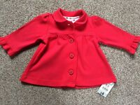 Girls light jacket unused with tags 3-6 months