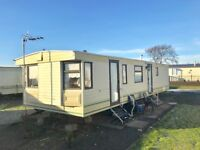 CHEAP STATIC CARAVAN FOR SALE IN AYRSHIRE NEAR GLASGOW, LOW SITE FEES - PET FRIENDLY - 11 MONTH PARK