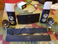 philips ambx pc speakers with fans, lights and rumble pad