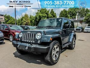 2016 Jeep Wrangler SAHARA 4X4, GPS NAV, REMOTE START, SIDE STEPS