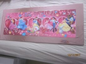 Mounted 'Disney Princesses' Jigsaw