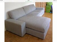 IKEA Kivik Sofa and Chaise Lounge, Isunda Gey, Perfect Condition - 6 months old