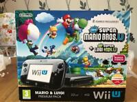 WII U CONSOLE AND GAMES £170