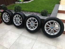 BMW 3 series f30, f31 16inch alloys with 205/60/16 winter tyres