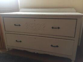 Rustic low chest of drawers