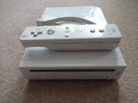 Nintendo Wii Games Console - Plus leads, wireless controller.