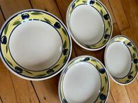 Olive design shallow bowls