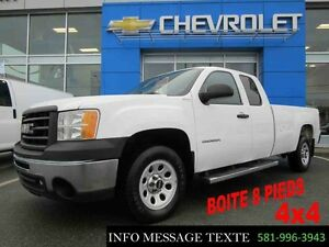 2012 GMC SIERRA 1500 4WD EXTENDED CAB LWB BOITE 8 PIEDS