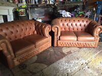Winchester leather 3 peice suite