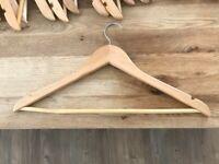 50 Wooden Coat Hangers