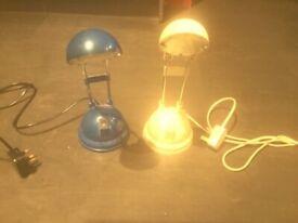 2 x Desktop lamps