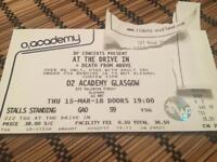 At The Drive In / Death from Above ticket Glasgow