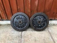 2x 15kg Cast Iron Weights plates. (+More Weights Available)