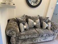 Crush velvet sofa
