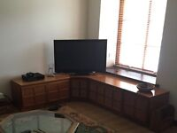 Nathan teak corner unit and side units. Four in total.