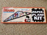 The Beano Vintage collection Paper Plane Kit with 20 designs. Makes 60 planes.