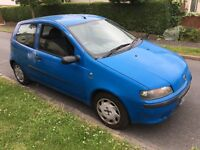 Fiat Punto Active Sport 1242cc Petrol 5 speed manual 3 door hatchback 02 Plate 31/07/2002 Blue