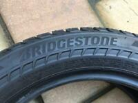 2 x Bridgestone 16 inch tyres 195 55 16 91V 6-7mm suitable for Nissan Note tyres