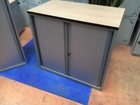 Small Tambour Office Storage Cupboard/Techo Tambour Unit 72cm High