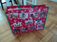 CHRISTMAS STYLE 'ELF' BAG - STRONG PVC MATERIAL.