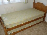 Pine Bed with guest bed