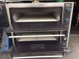 """SERVICED PIZZA OVEN 2 DECK 8 X 13"""" CATERING COMMERCIAL FAST FOOD RESTAURANT TAKE AWAY SHOP"""