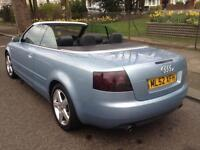 CONVERTIBLE AUDI A4 WITH 11 MONTHS MOT AND TAX QUICK SALE