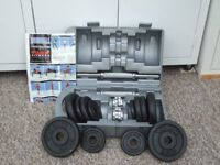 Beautiful set of dumbell. complete with wall chart total weight 20kgs