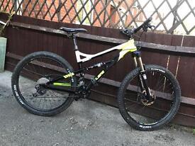 Calibre bossnut full suspension mountain bike will post