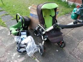 Jane push chair with car seat & iso fix