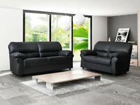 TODAY ONLY leather 3+2 seater sofa suite brand new chocolate brown/black
