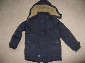 Next Boys Parker Style Navy Padded Winter Coat (Age 6)