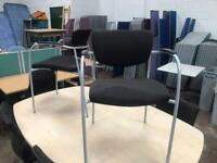Black & Chrome Stackable Meeting Chairs
