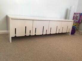 IKEA TV unit with storage in white